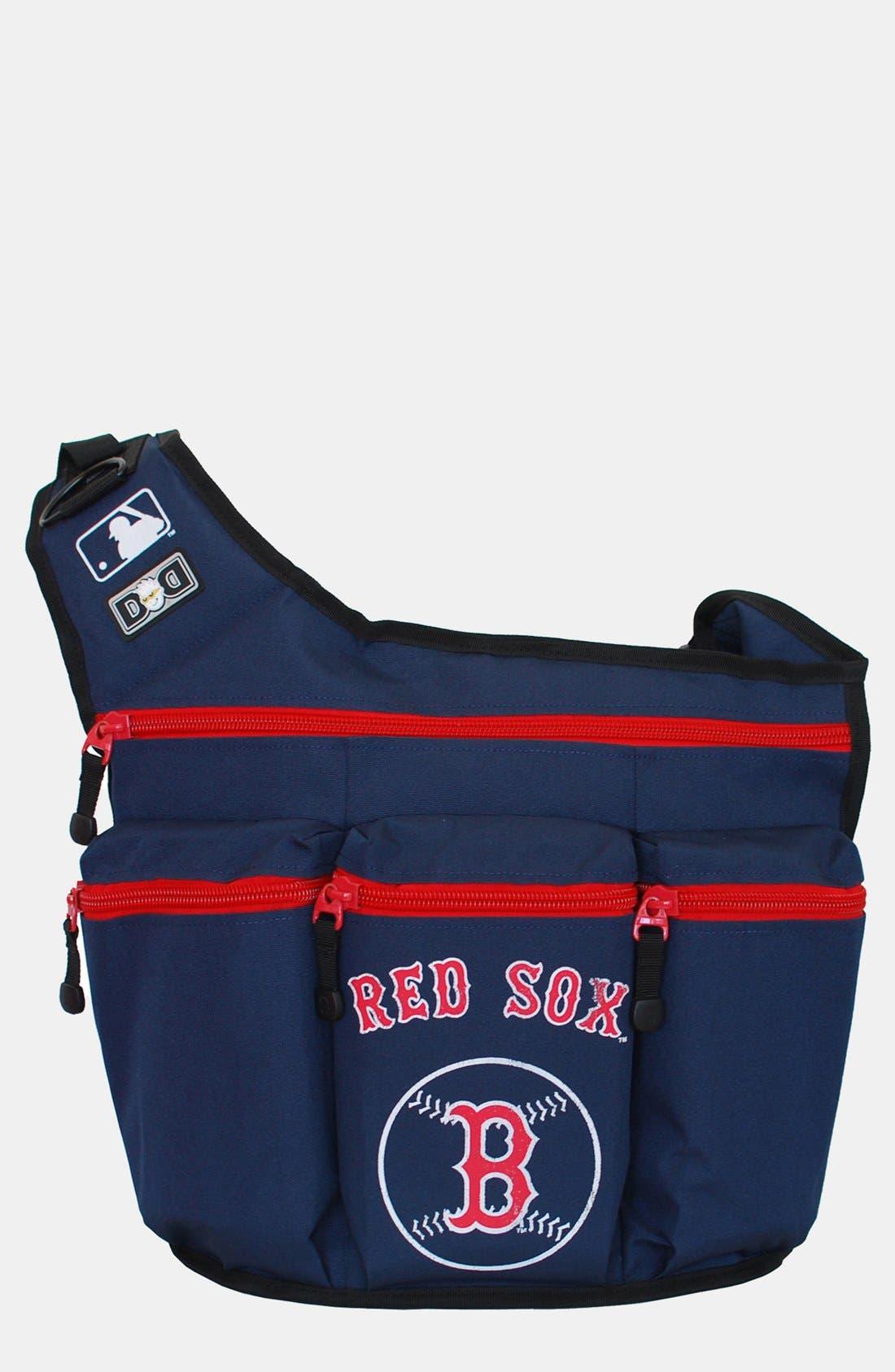 Main Image - Diaper Dude 'Boston Red Sox' Messenger Diaper Bag