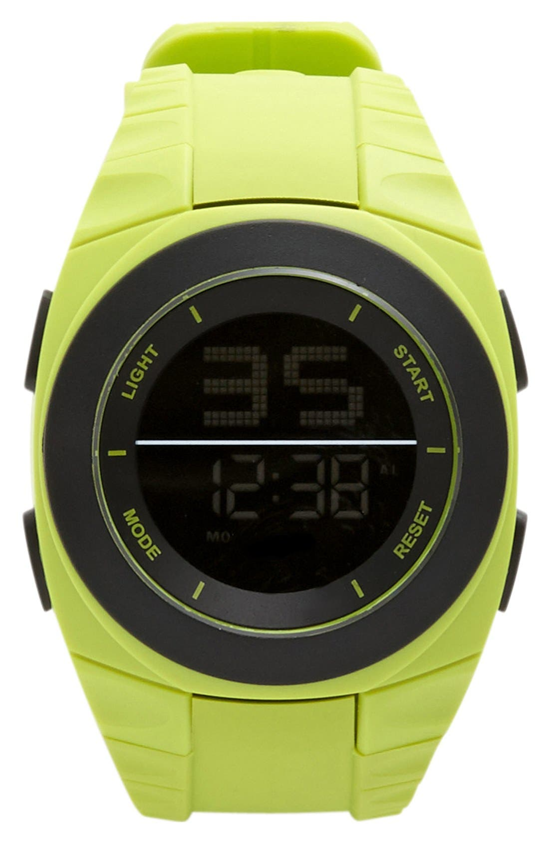 Alternate Image 1 Selected - ACCUTIME Digital Silicone Strap Watch, 45mm