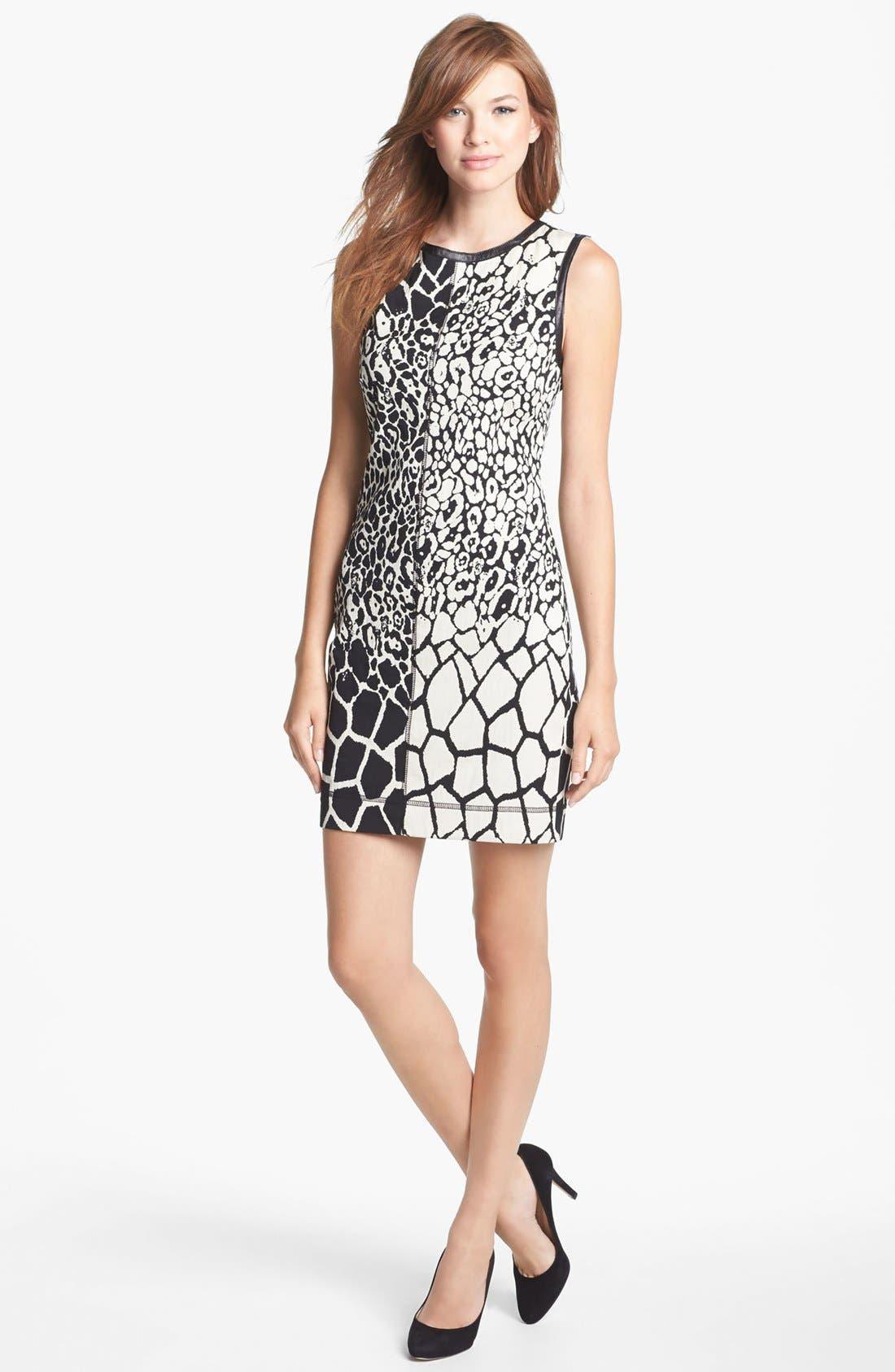 Alternate Image 1 Selected - Nicole Miller Jacquard Sheath Dress