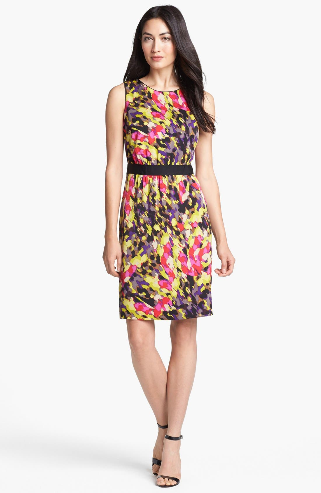 Alternate Image 1 Selected - Classiques Entier® Print Stretch Sheath Silk Dress