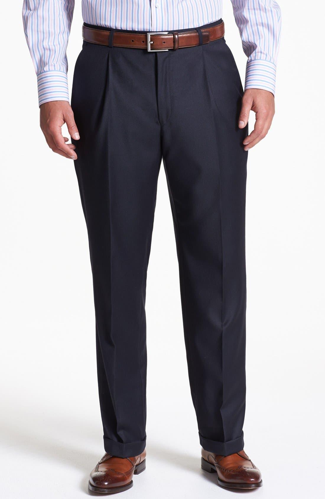 Alternate Image 5  - Hickey Freeman Navy Worsted Wool Suit
