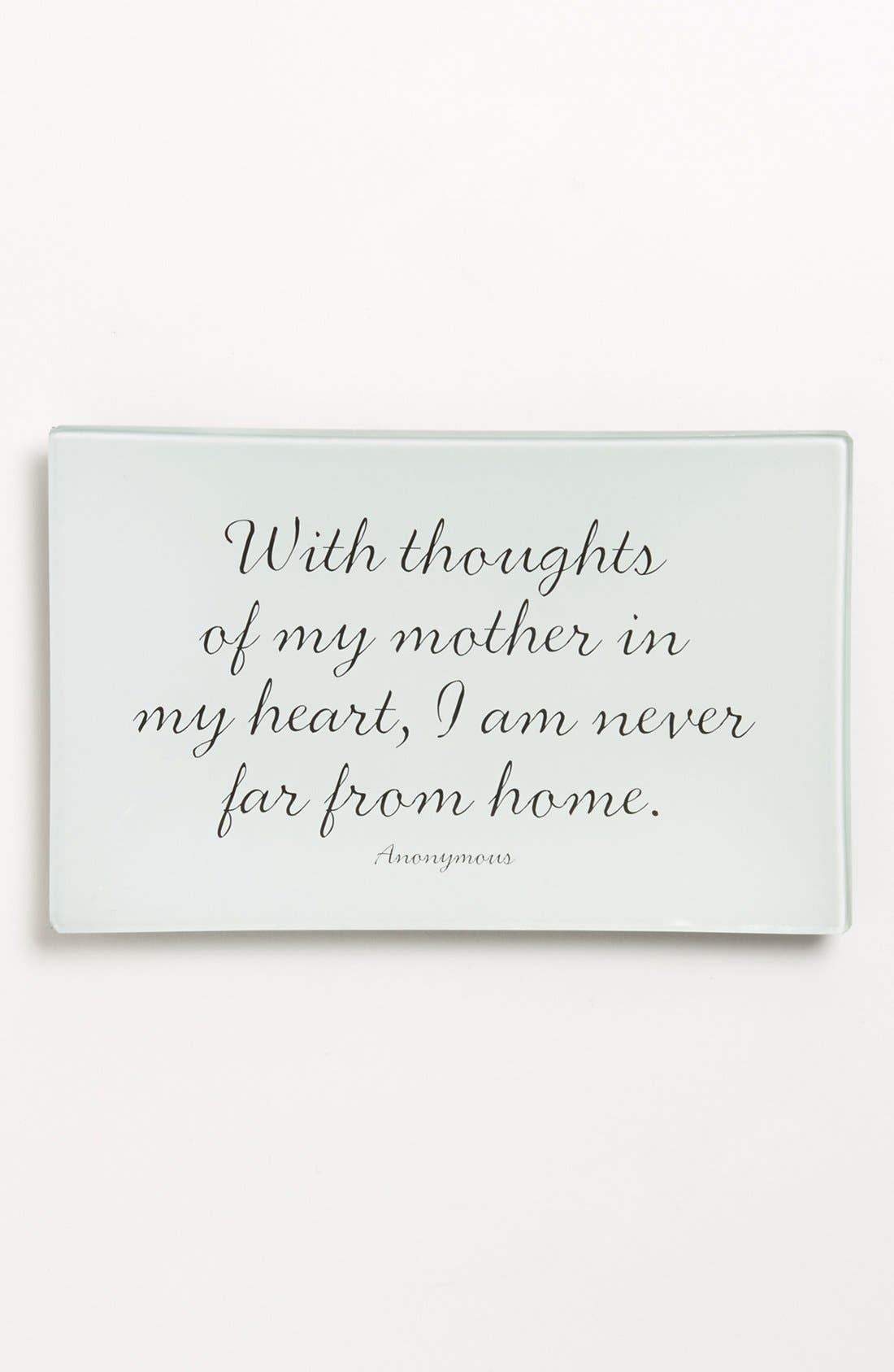 'With Thoughts of My Mother' Trinket Tray,                         Main,                         color, Ivory