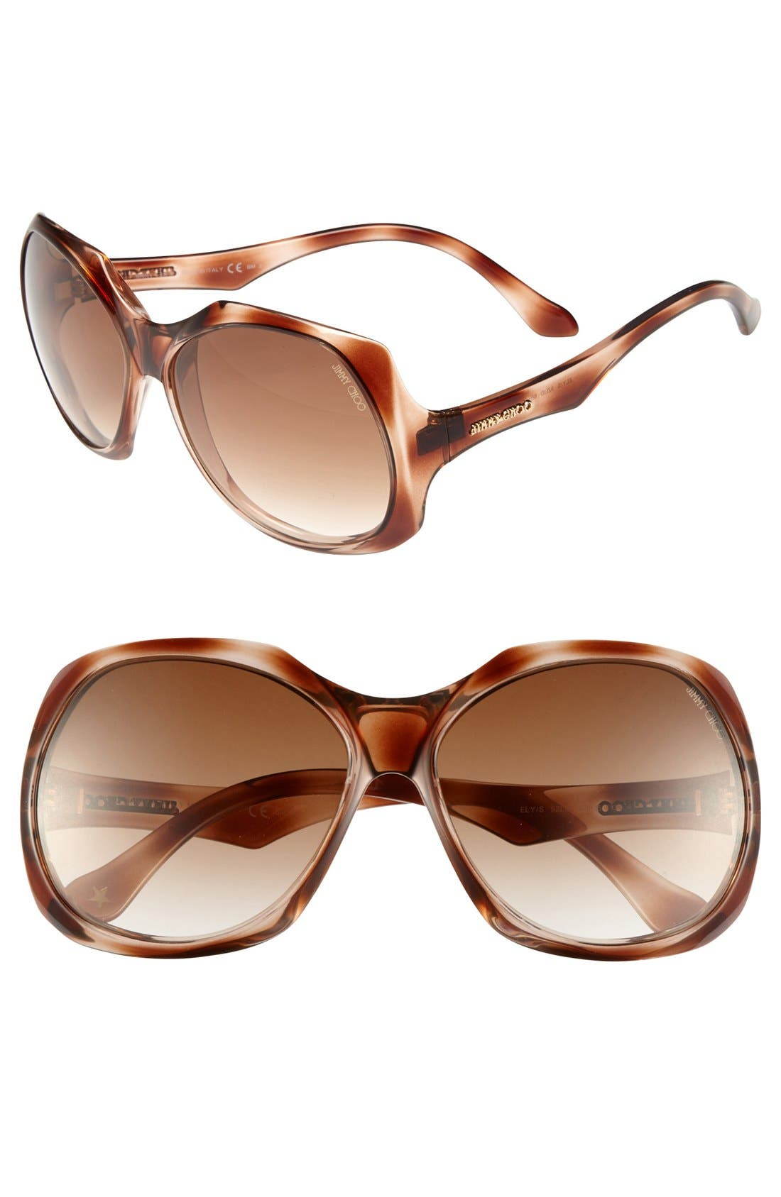 Alternate Image 1 Selected - Jimmy Choo 'Elys' 60mm Sunglasses