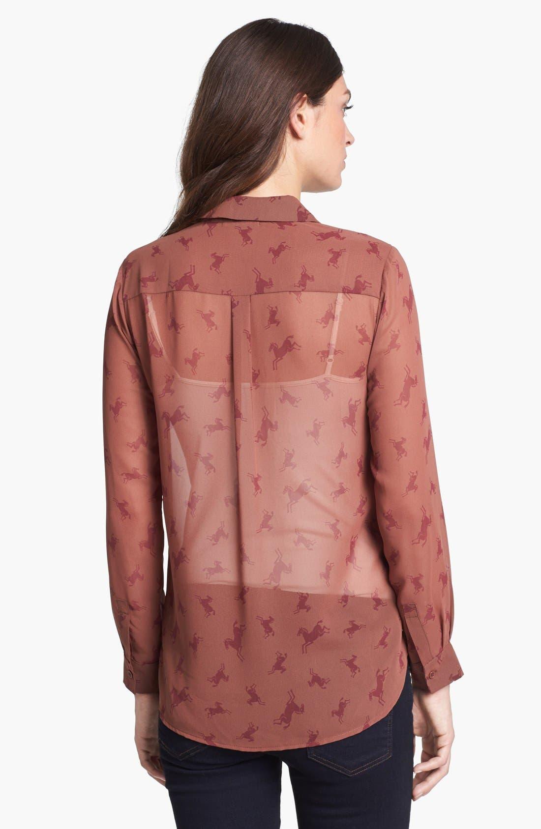 Alternate Image 2  - Pleione High/Low Woven Shirt