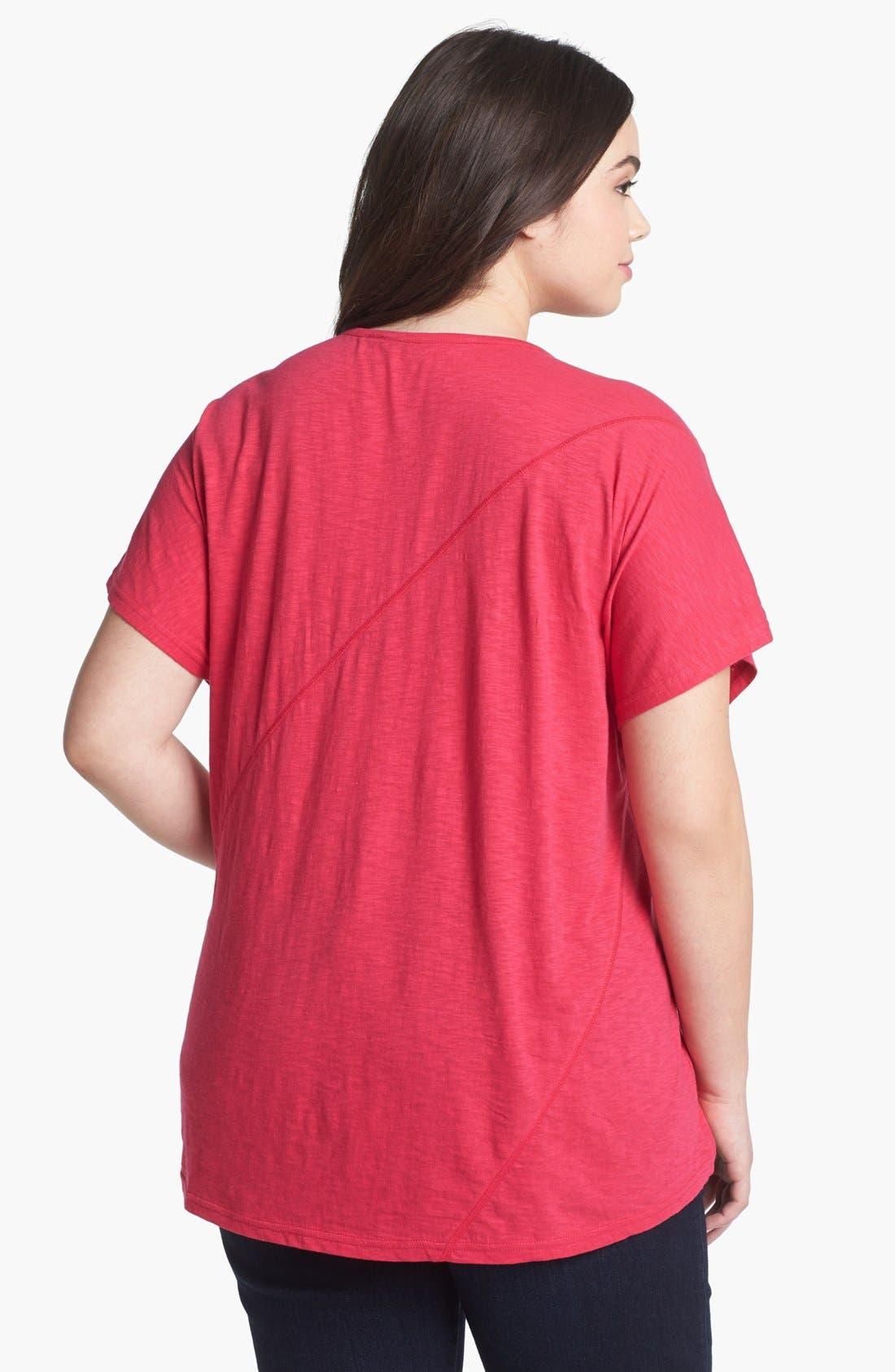 Alternate Image 2  - Sejour Slubbed Cotton Top (Plus Size)