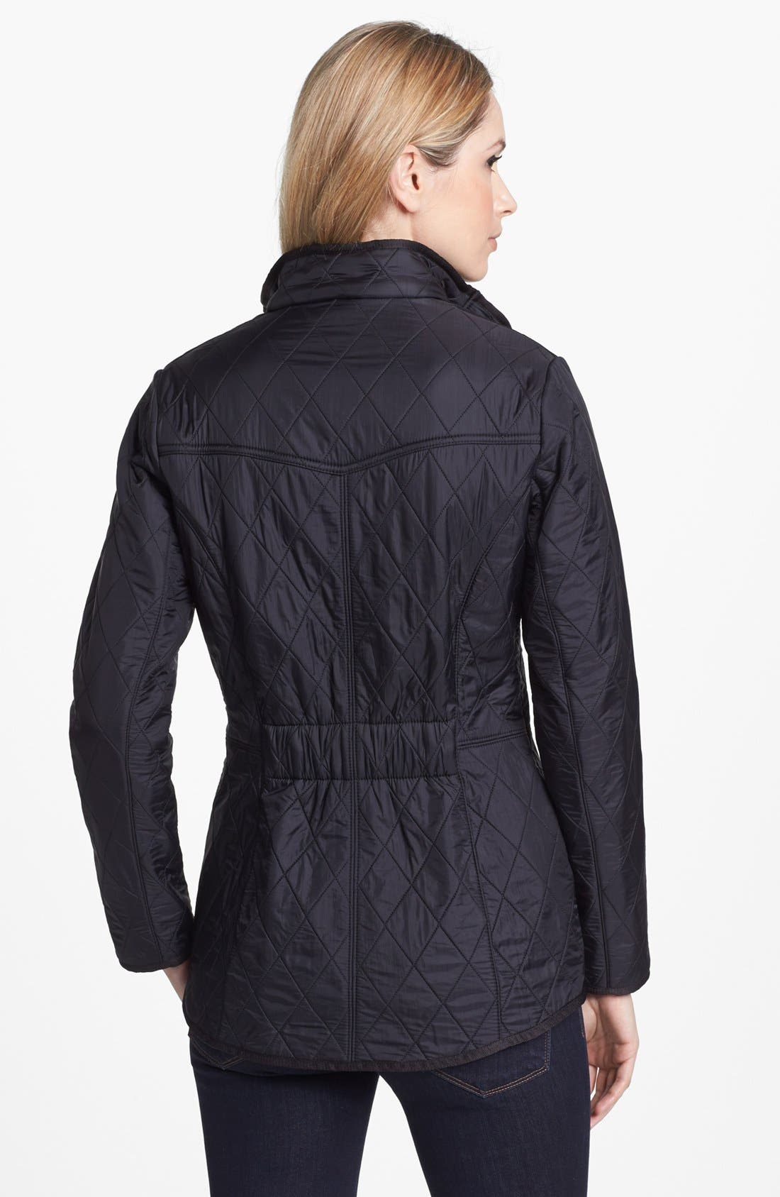 'Cavalry' Quilted Jacket,                             Alternate thumbnail 2, color,                             Black