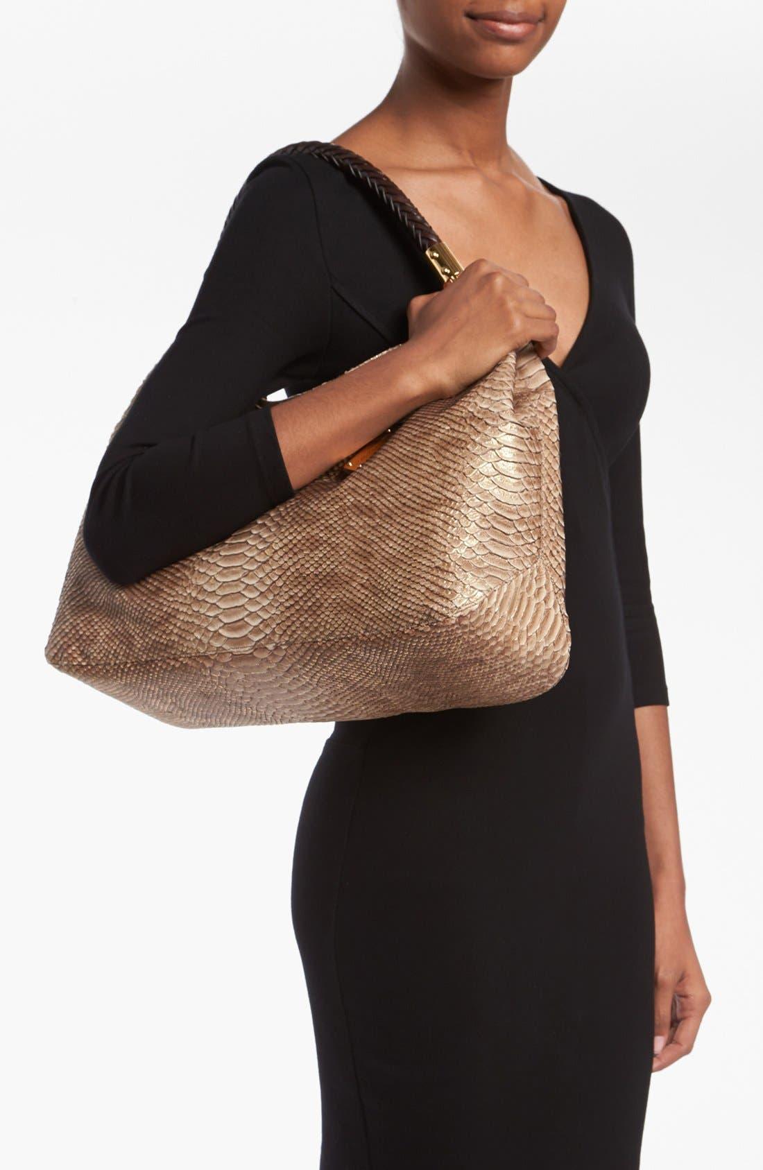 Alternate Image 2  - Michael Kors 'Skorpios' Python Print Shoulder Bag