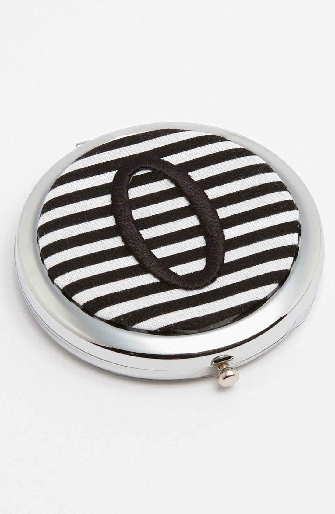 Alternate Image 1 Selected - Sweet Sorrella Designs 'O' Monogram Compact Mirror