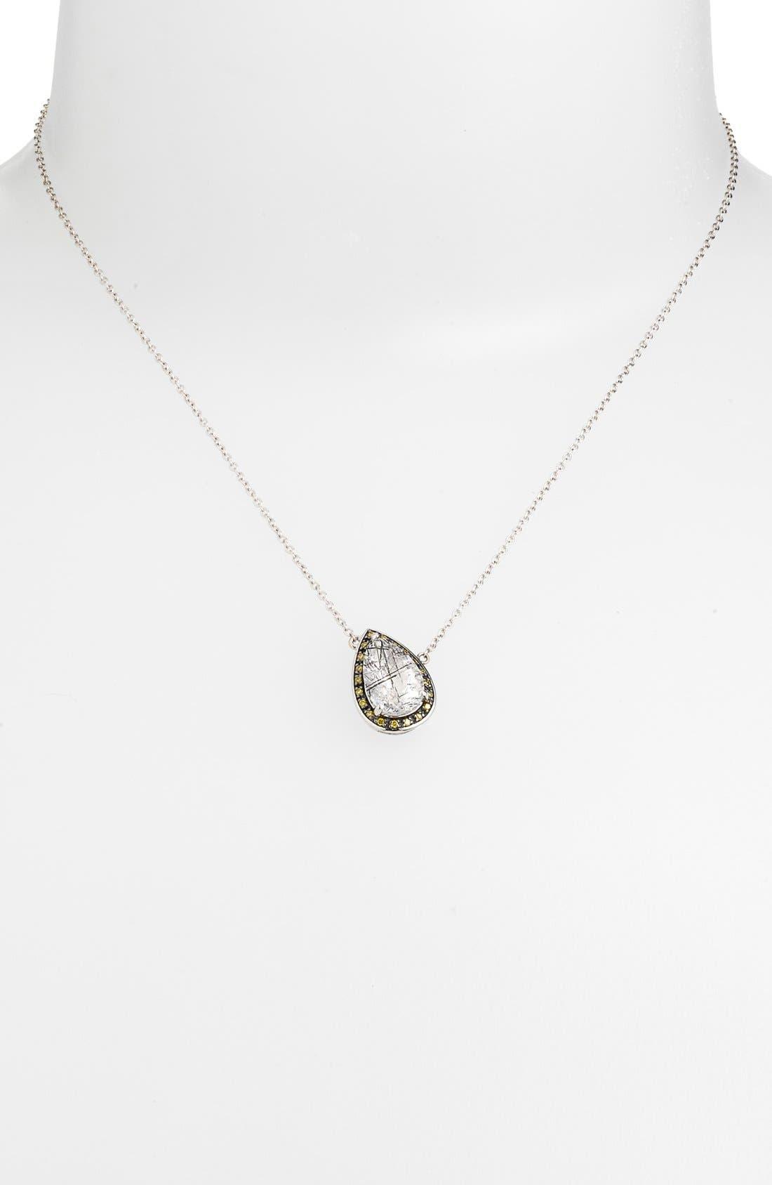 Alternate Image 2  - Whitney Stern Quartz & Canary Diamond Pendant Necklace