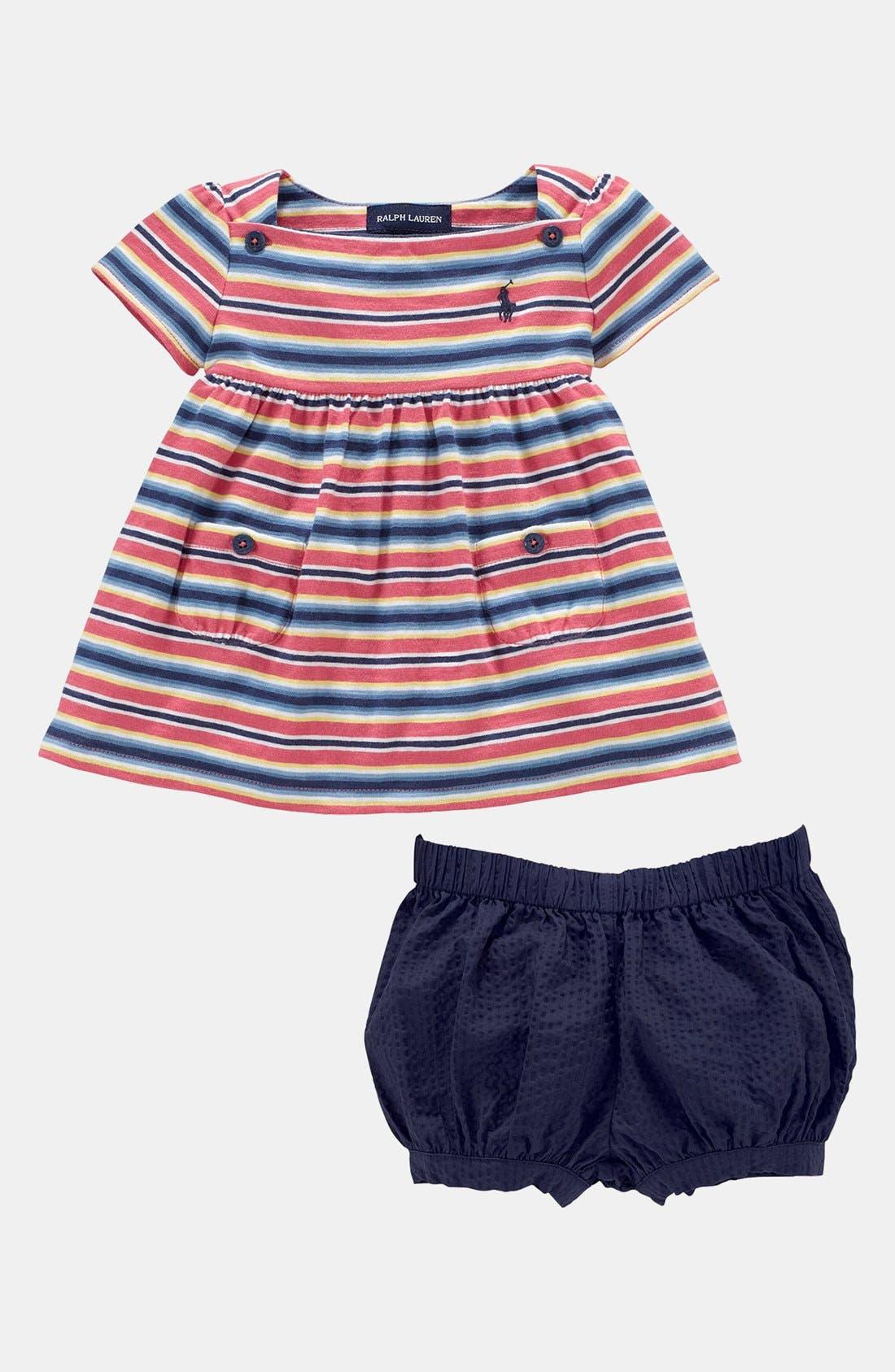 Alternate Image 2  - Ralph Lauren Top & Shorts (Baby Girls)