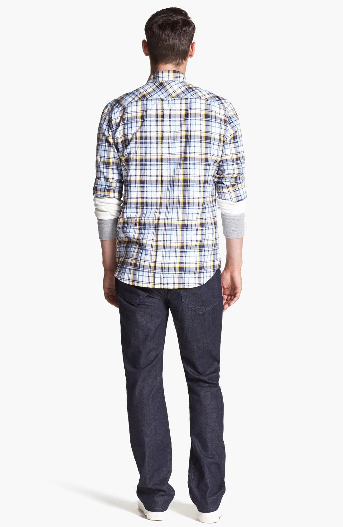 Alternate Image 5  - French Connection 'Thames Valley' Slim Fit Sport Shirt