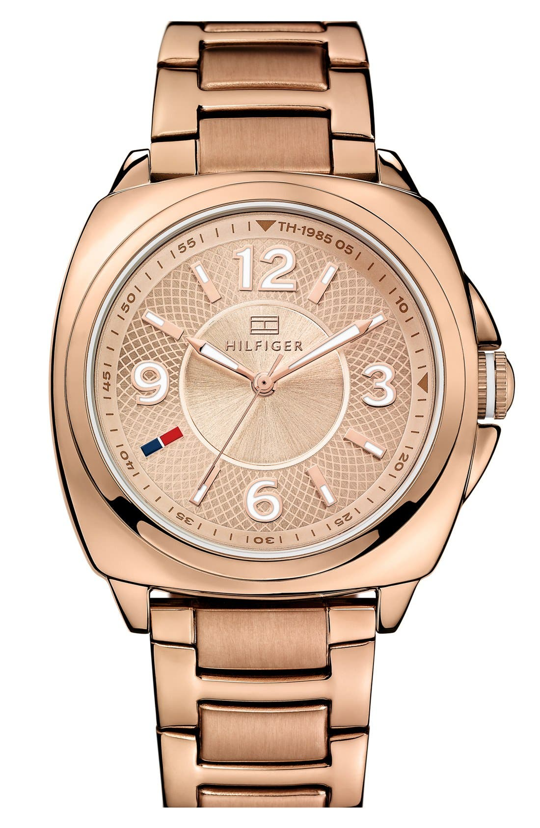 Main Image - Tommy Hilfiger Cushion Case Bracelet Watch, 38mm