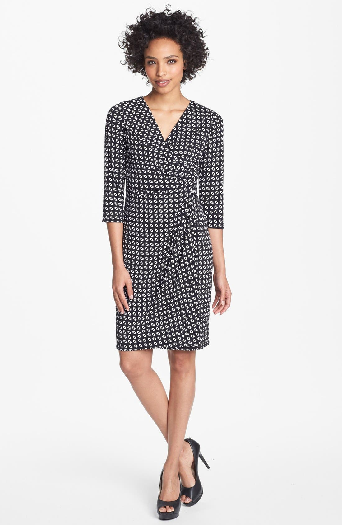 Main Image - Maggy London Print Matte Jersey Wrap Dress (Regular & Petite)