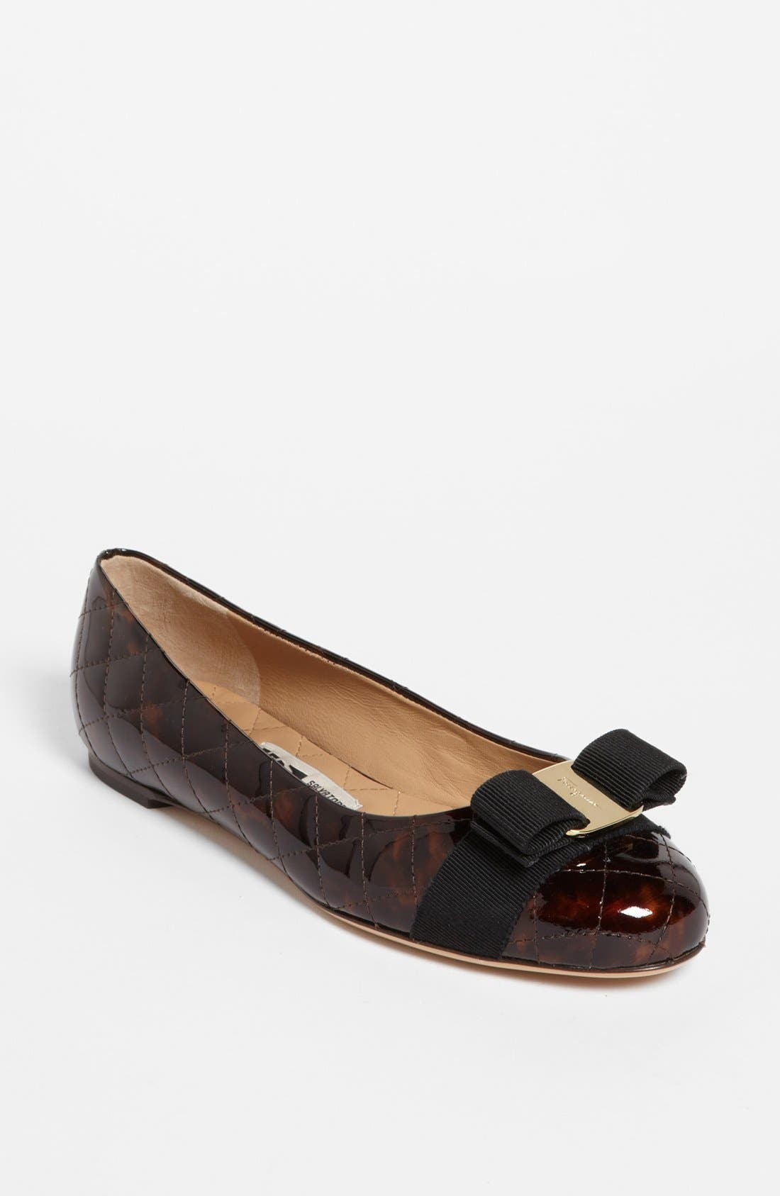 Alternate Image 1 Selected - Salvatore Ferragamo 'Varina' Quilted Flat