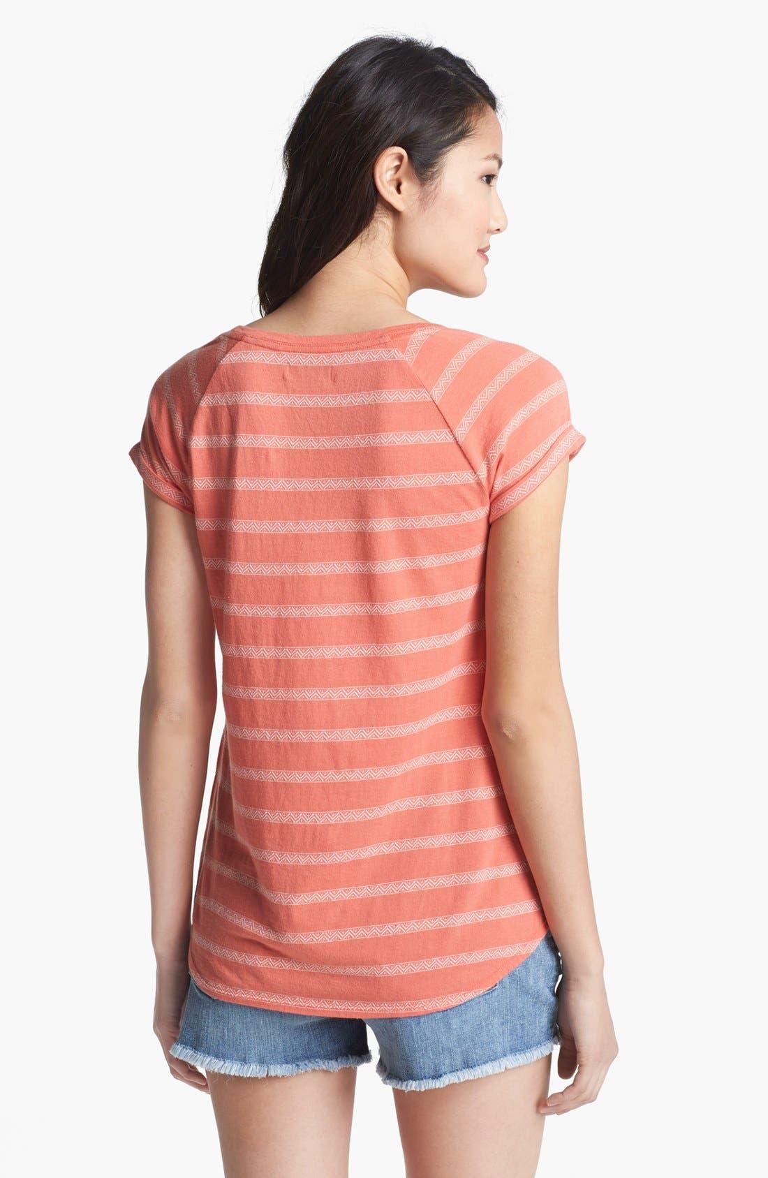 Alternate Image 2  - Lucky Brand 'Brier' Stripe Tee (Online Only)