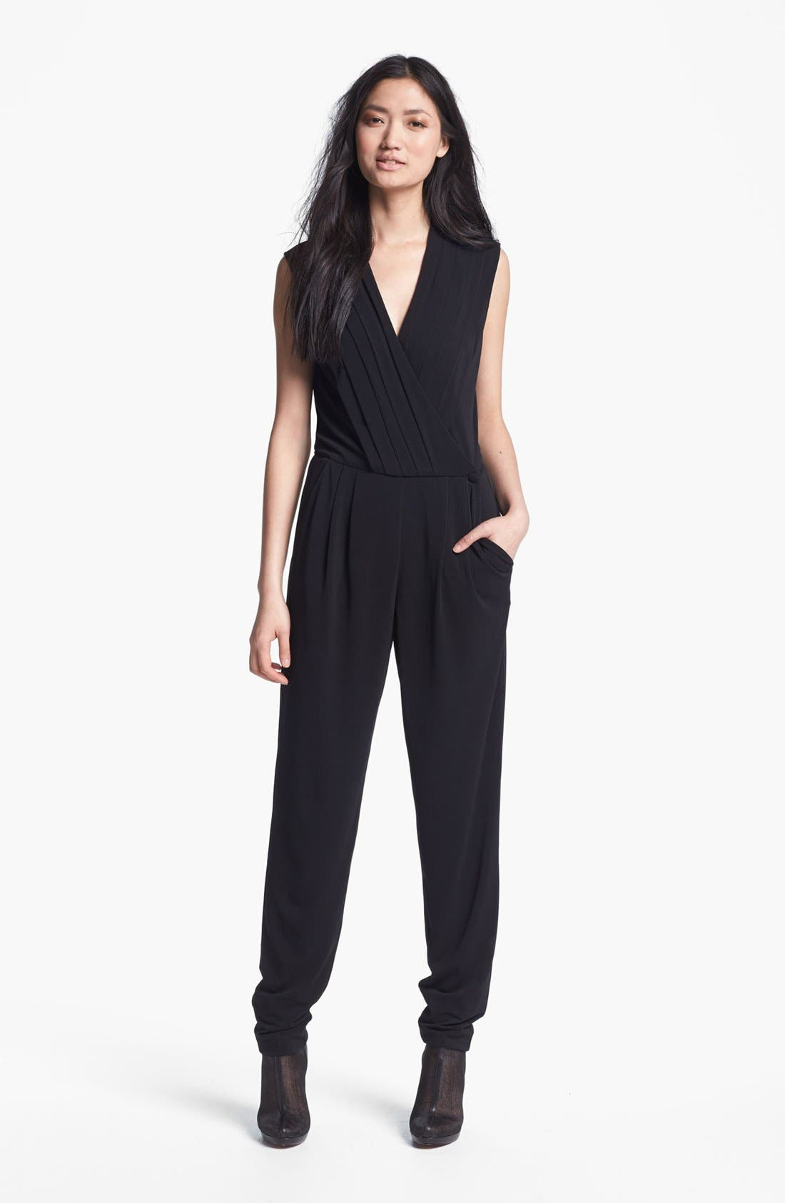 Alternate Image 1 Selected - Rachel Zoe 'Claudia' Pleated Jumpsuit