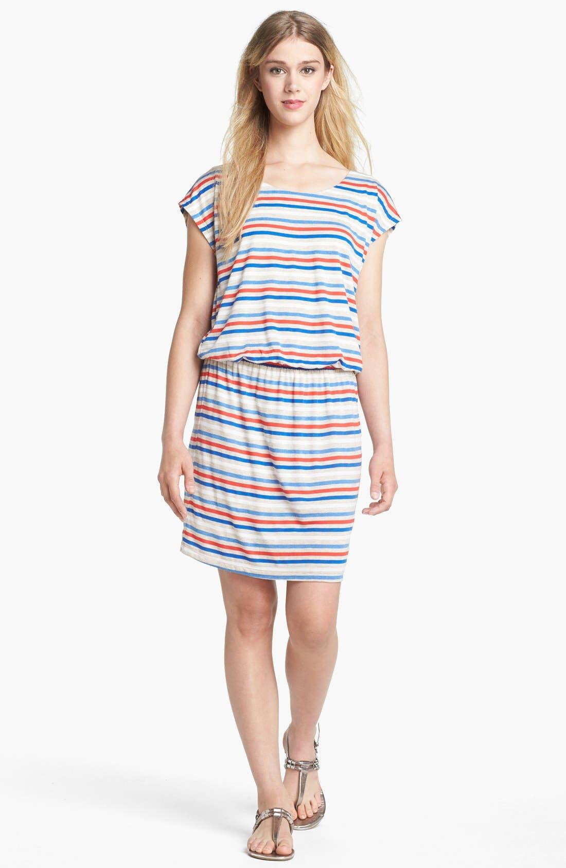 Main Image - Olivia Moon Back Zip Stripe Dress