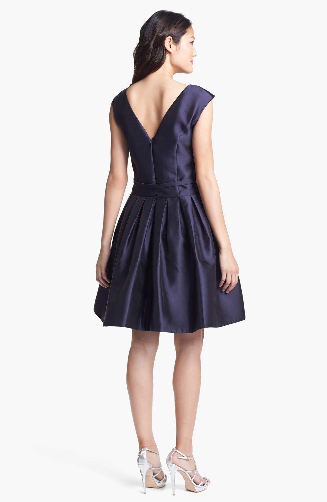 Alternate Image 2  - Eliza J Satin Fit & Flare Dress