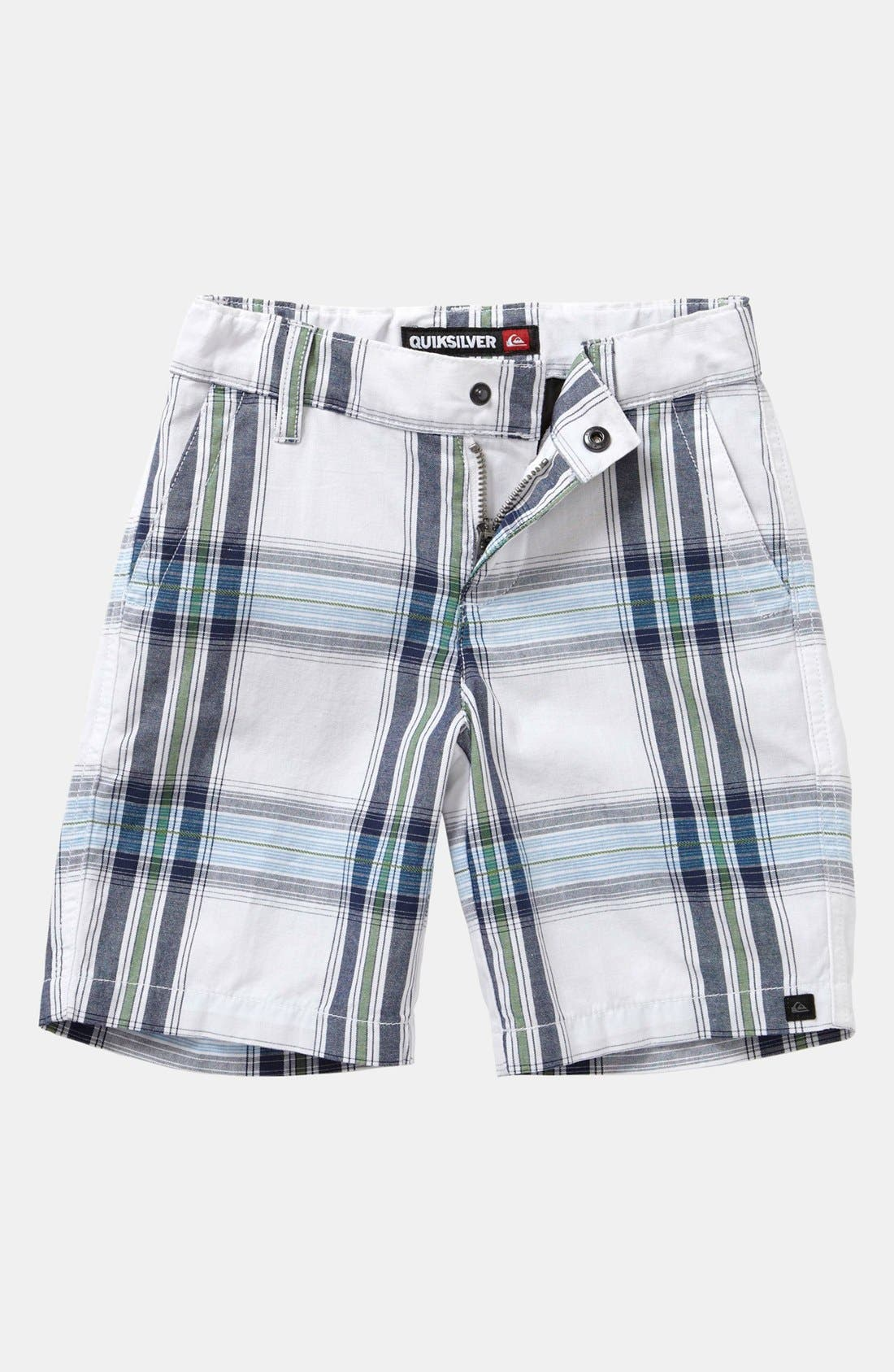 Alternate Image 1 Selected - Quiksilver 'Outstanding' Plaid Shorts (Toddler Boys)