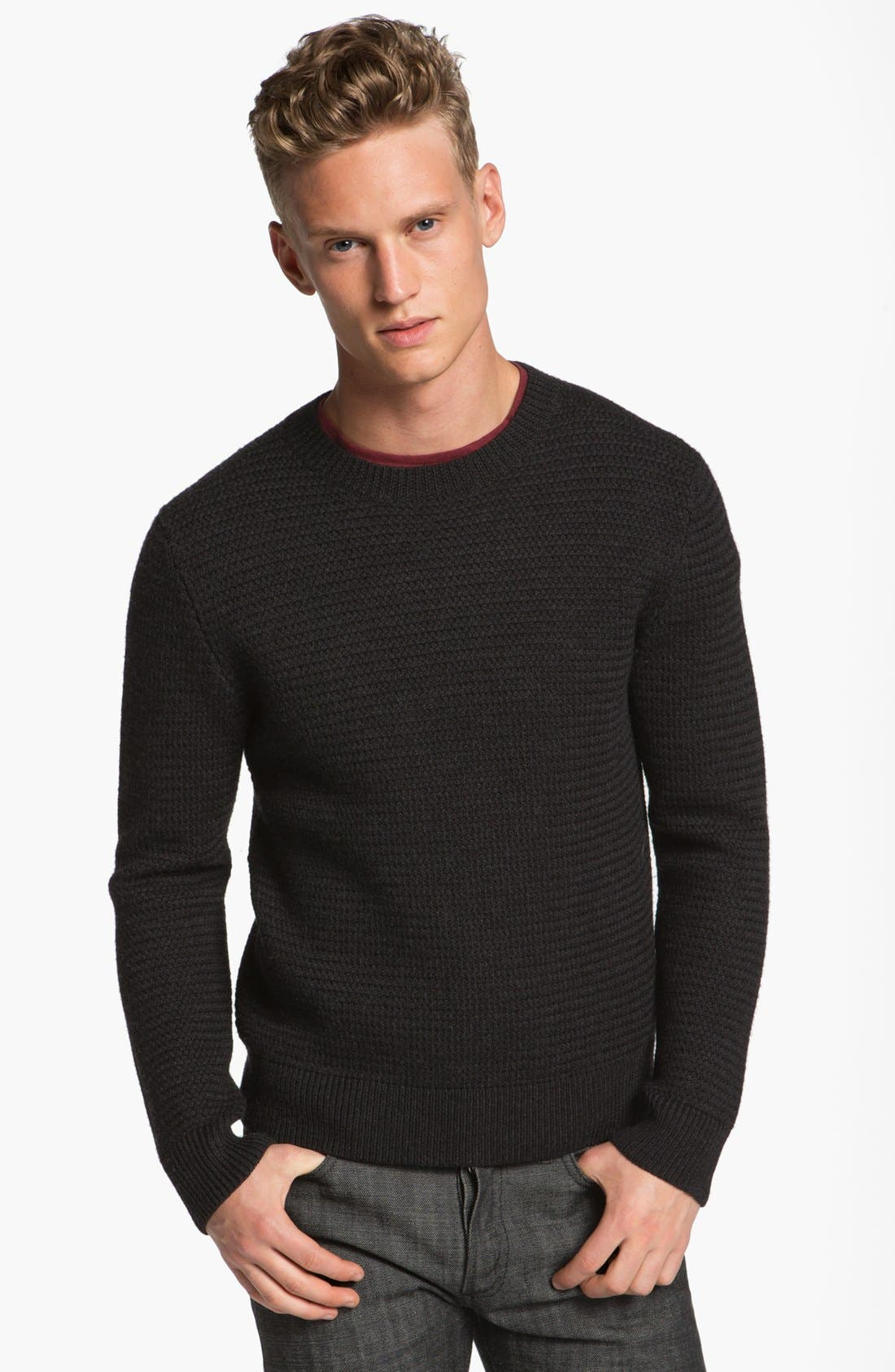 Alternate Image 1 Selected - A.P.C. Thick Wool Crewneck Sweater