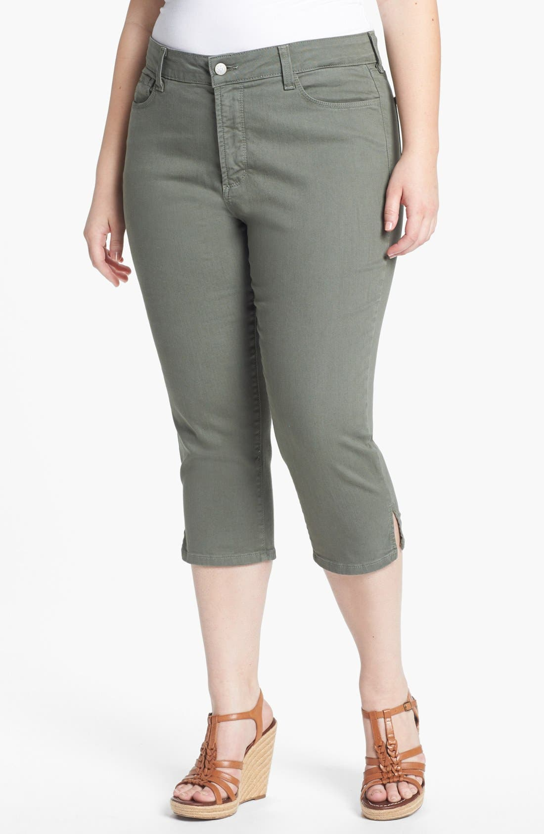 Alternate Image 1 Selected - NYDJ 'Nanette' Crop Stretch Jeans (Plus Size)
