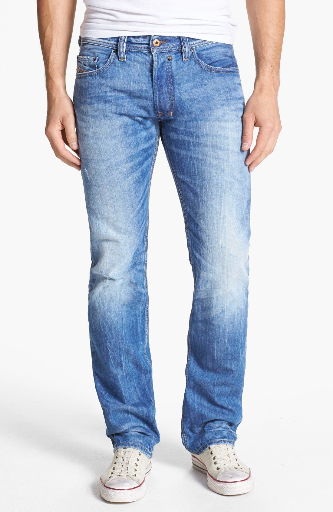 Alternate Image 2  - DIESEL® 'Safado' Slim Fit Jeans (0816P)