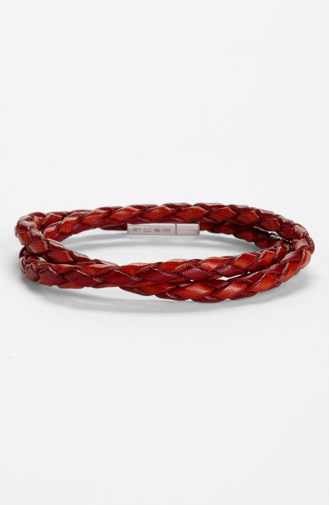 Scoubidou Bracelet,                             Main thumbnail 1, color,                             Red