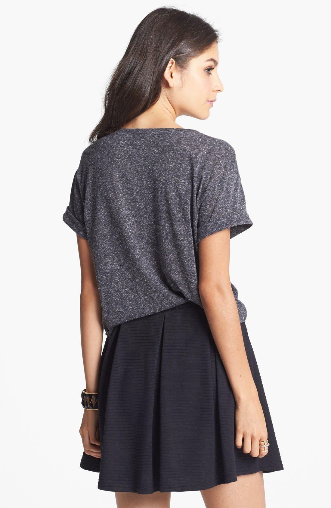Alternate Image 3  - h.i.p. Box Pleat Textured Skirt (Juniors)