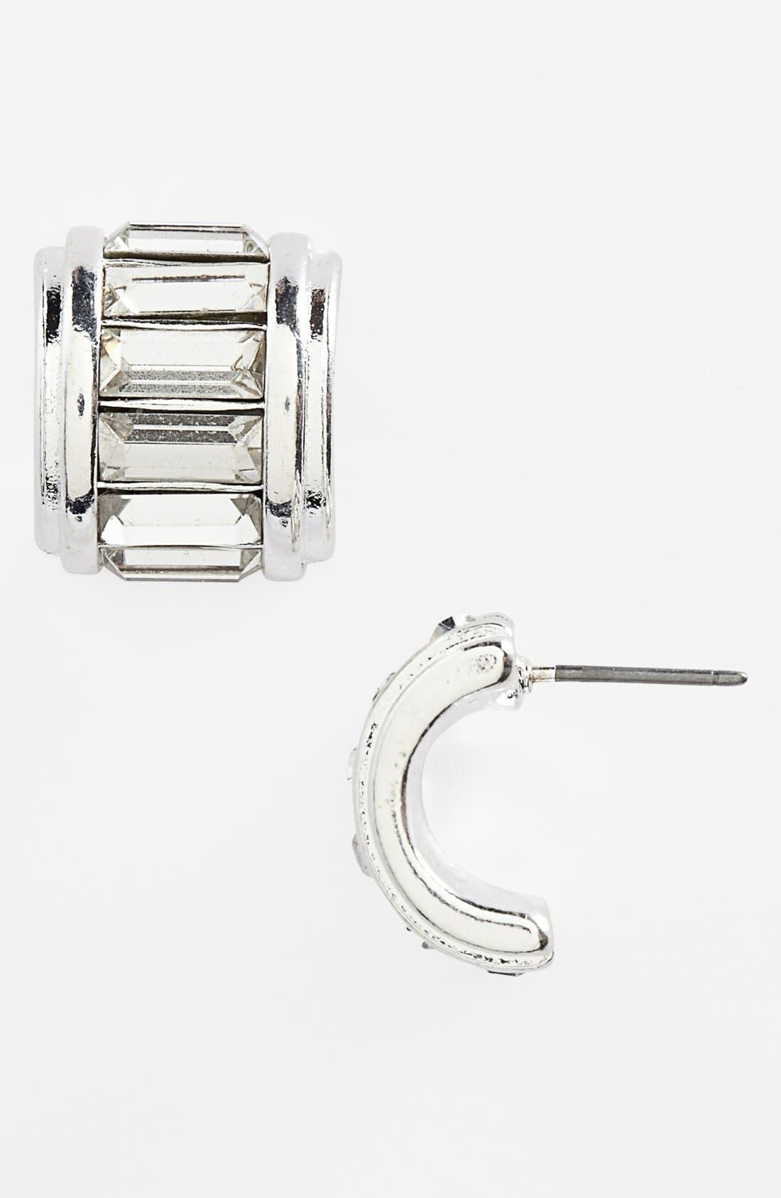 Alternate Image 1 Selected - Anne Klein Small Hoop Earrings