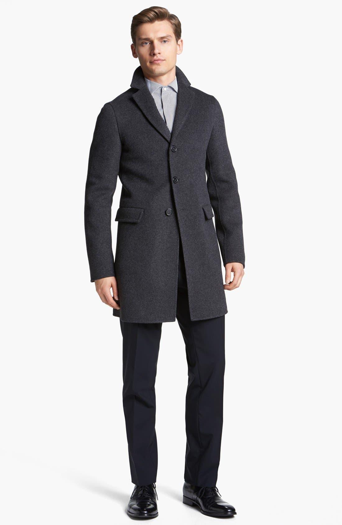 Alternate Image 4  - Jil Sander Three Button Wool Overcoat