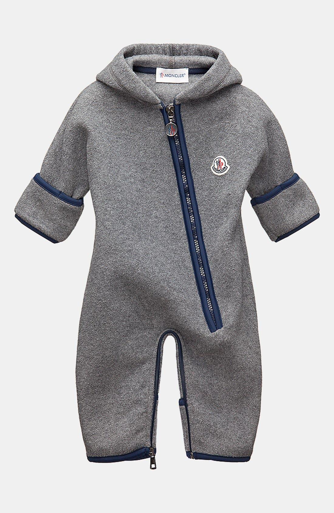 Alternate Image 1 Selected - Moncler Fleece Bunting (Baby Boys)