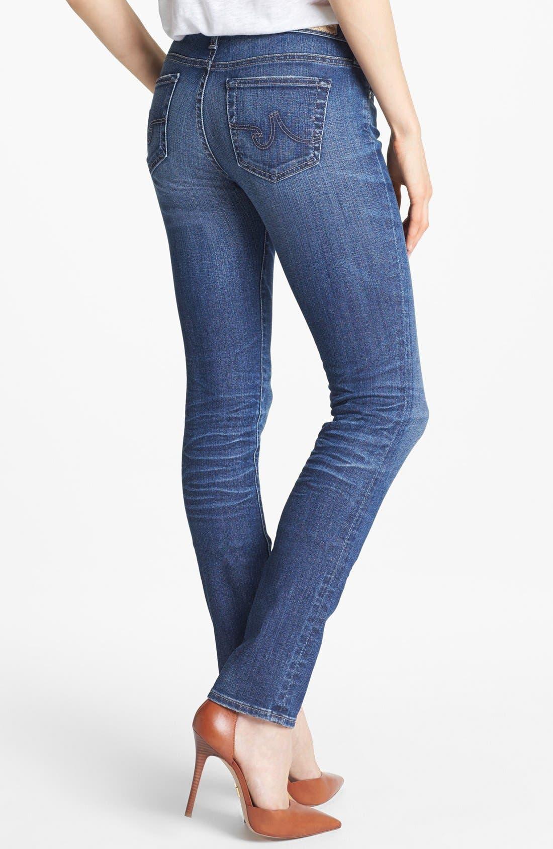 Alternate Image 2  - AG 'Aubrey' Skinny Straight Leg Jeans (10 Year Daybreaker)