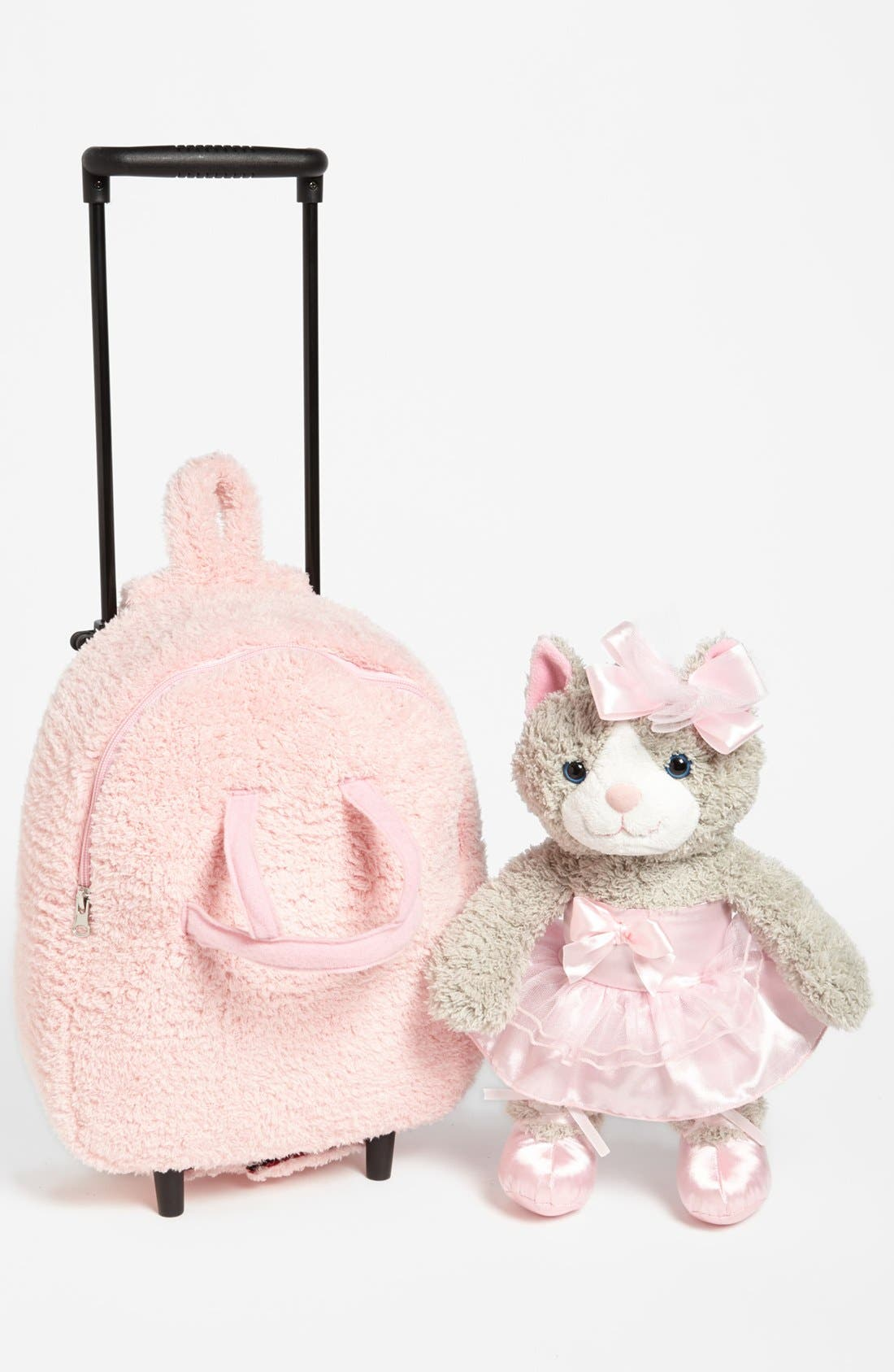Alternate Image 2  - Popatu 'Ballet Kitty' Rolling Backpack (Toddler Girls)