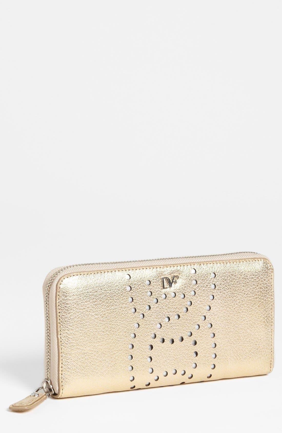 Alternate Image 1 Selected - Diane von Furstenberg 'Sutra' Leather Wallet