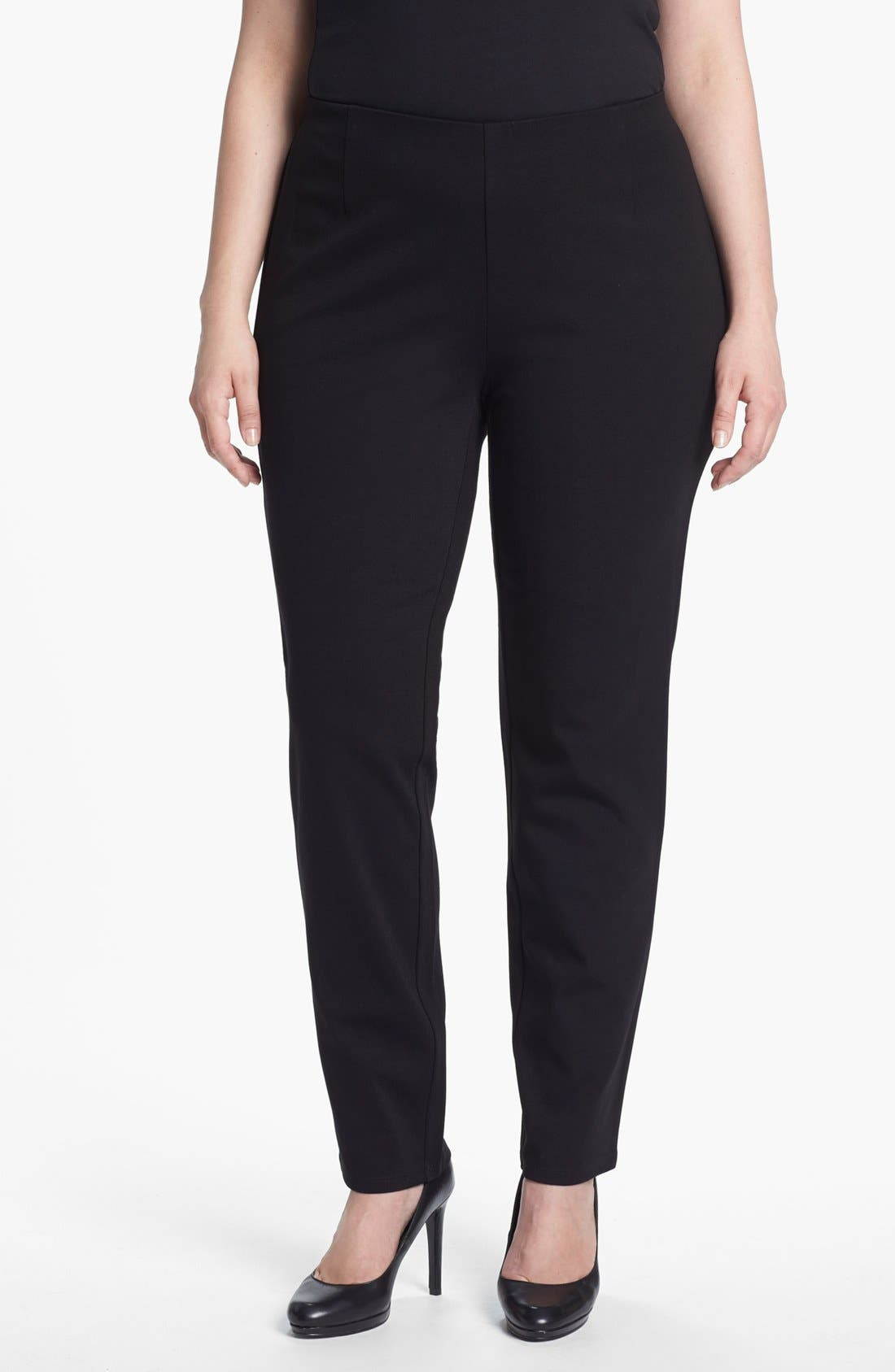 Alternate Image 1 Selected - Eileen Fisher Slim Pants (Plus Size)
