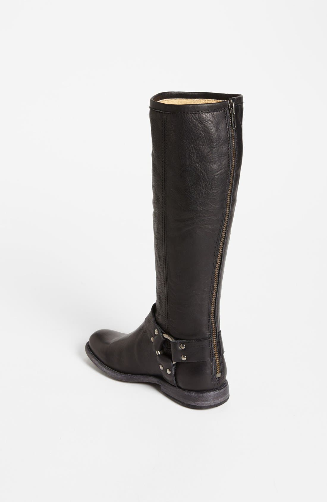 Alternate Image 2  - Frye 'Phillip Harness' Tall Washed Leather Riding Boot (Women)