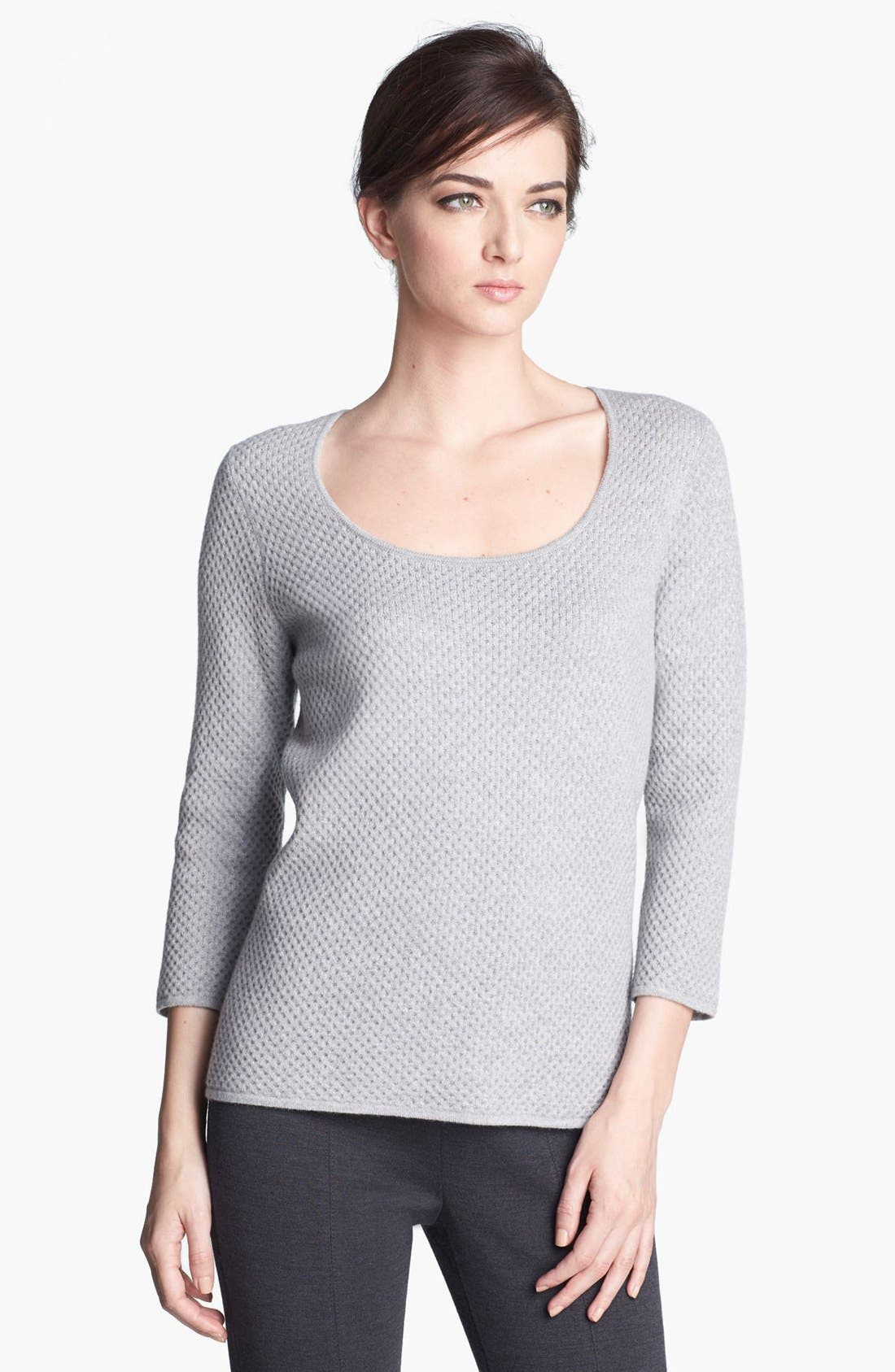 Main Image - St. John Collection Scoop Neck Cashmere Knit Sweater