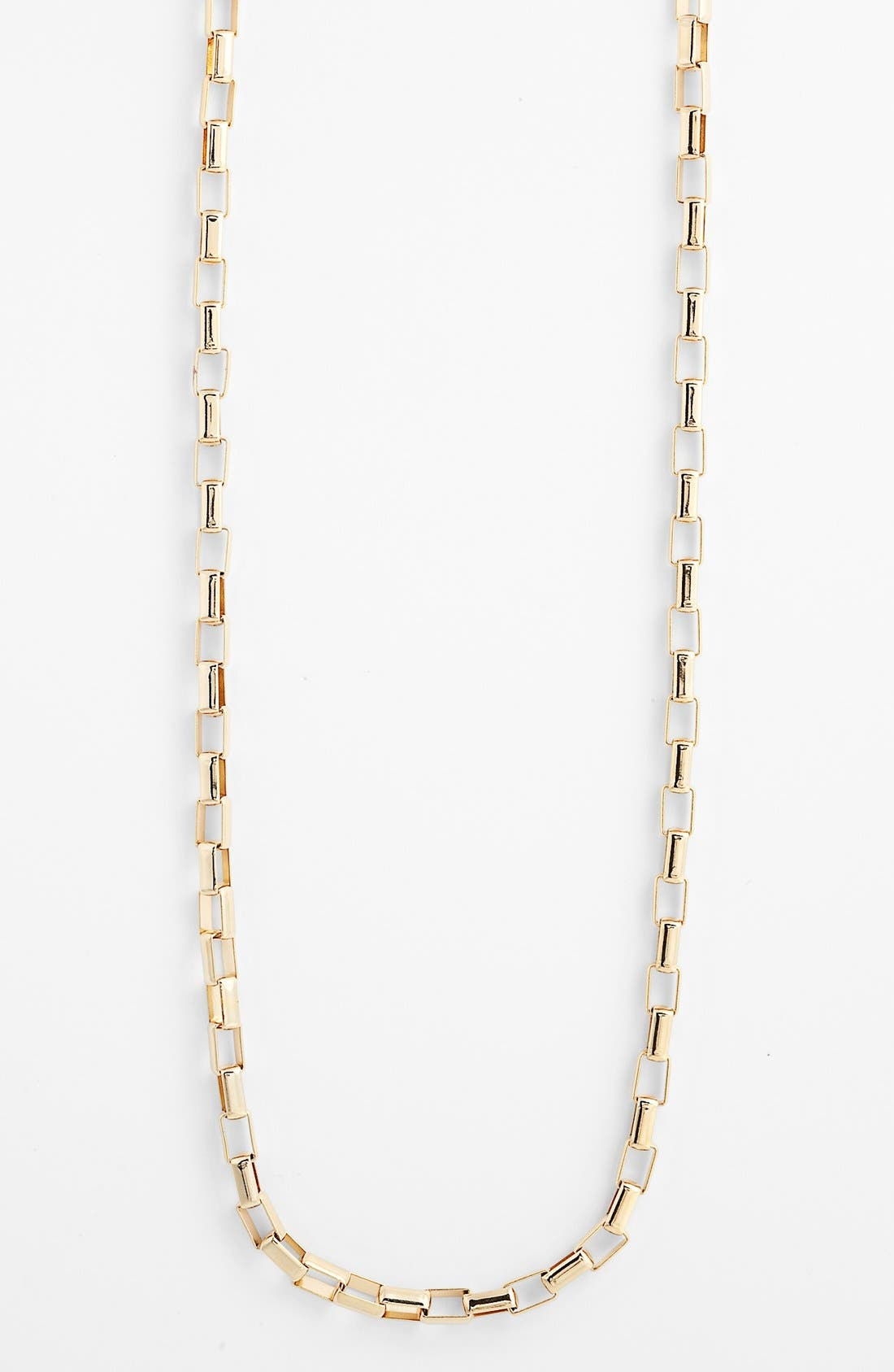 Alternate Image 2  - Nordstrom Long Square Link Necklace