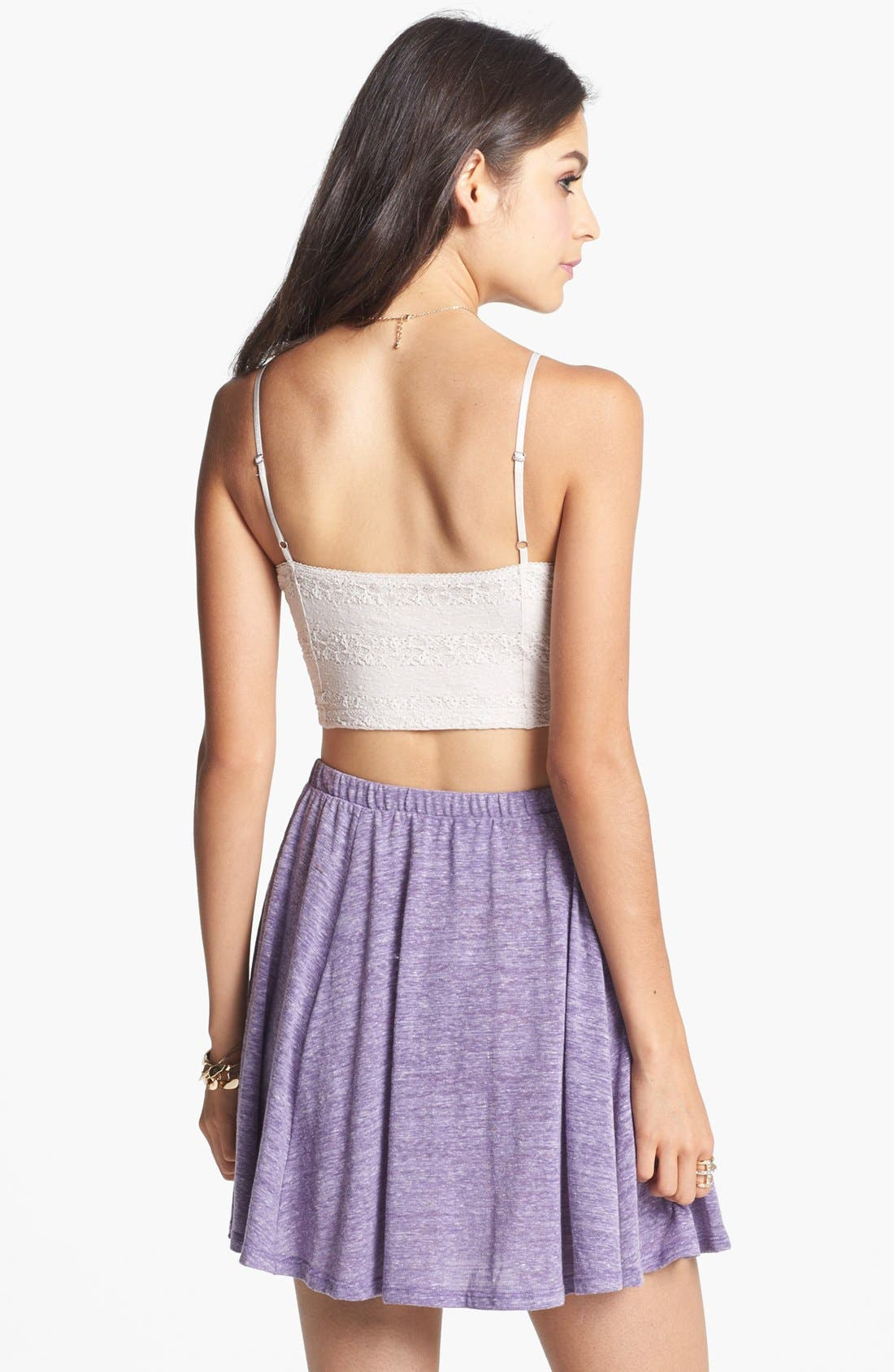 Alternate Image 2  - h.i.p. Heathered Skater Skirt (Juniors)