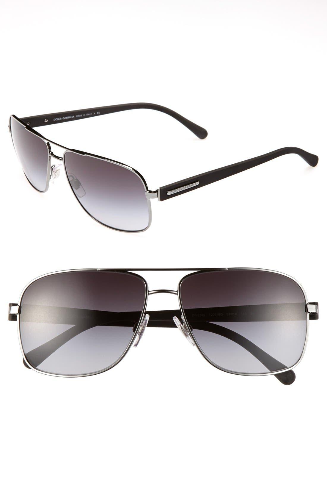 Main Image - Dolce&Gabbana 59mm Square Sunglasses