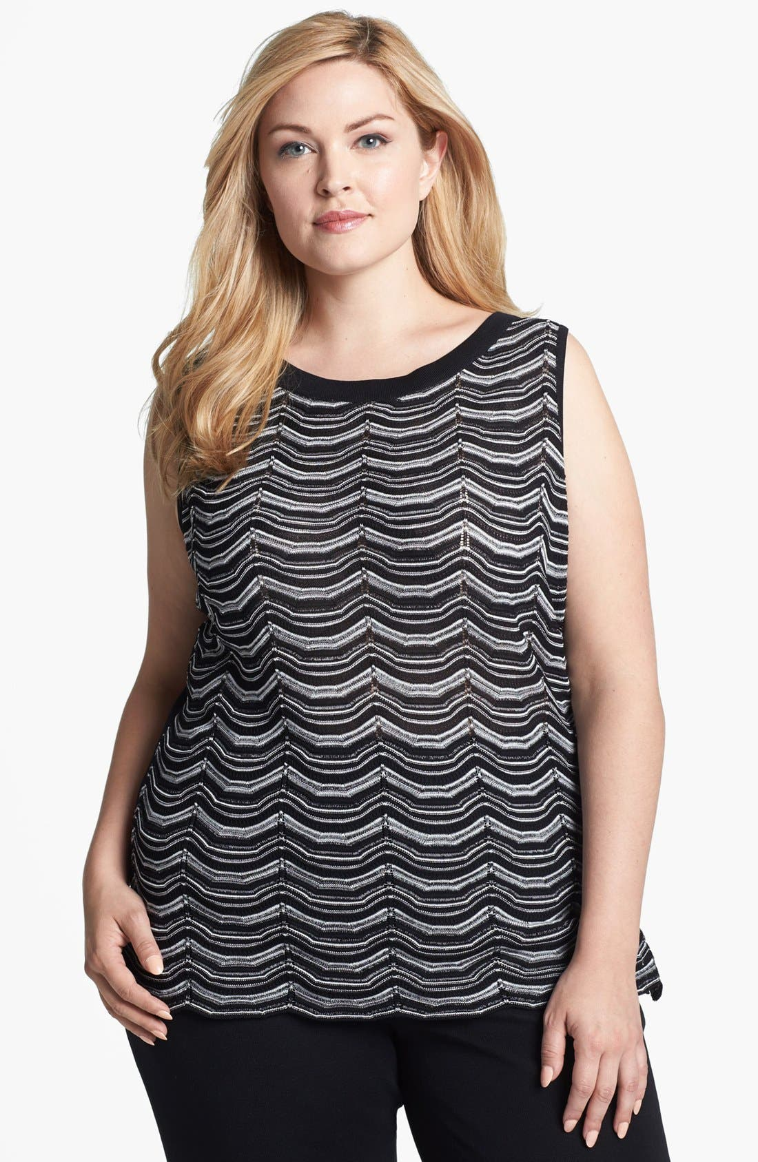 Alternate Image 1 Selected - Misook 'Marcelle' Sweater Tank (Plus Size)