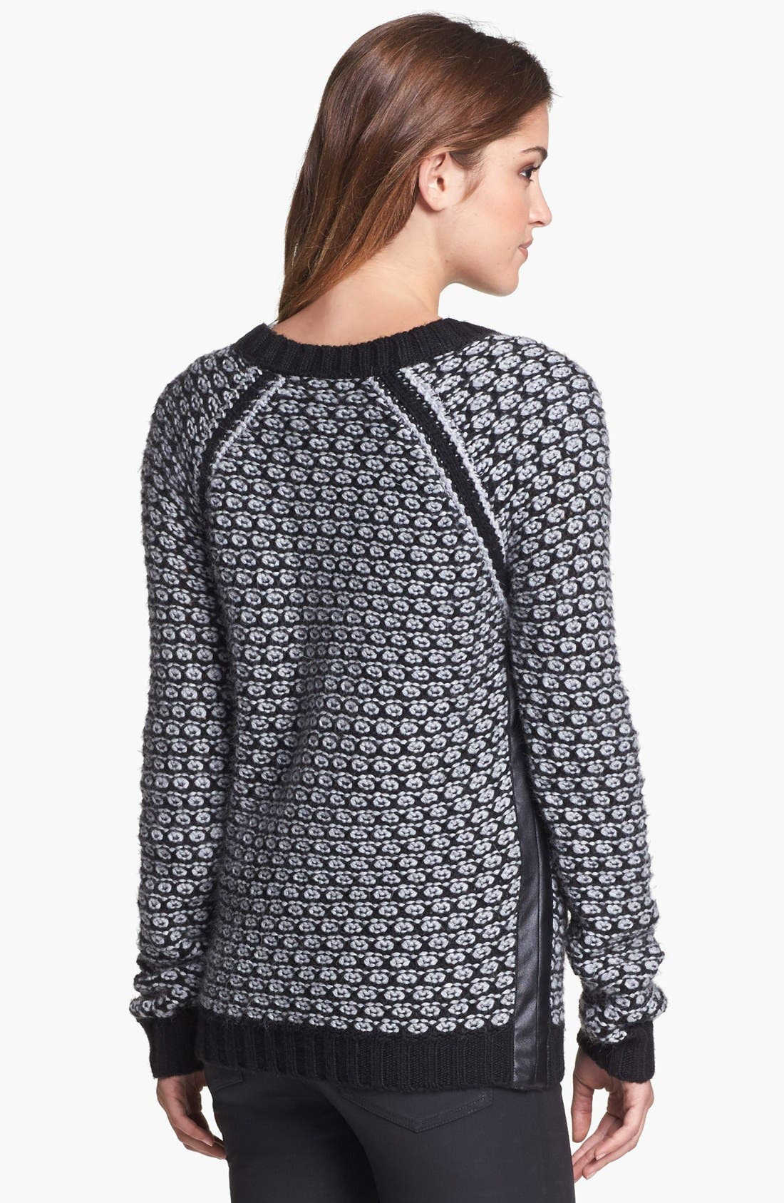 Alternate Image 4  - Two by Vince Camuto Side Zip Honeycomb Knit Sweater