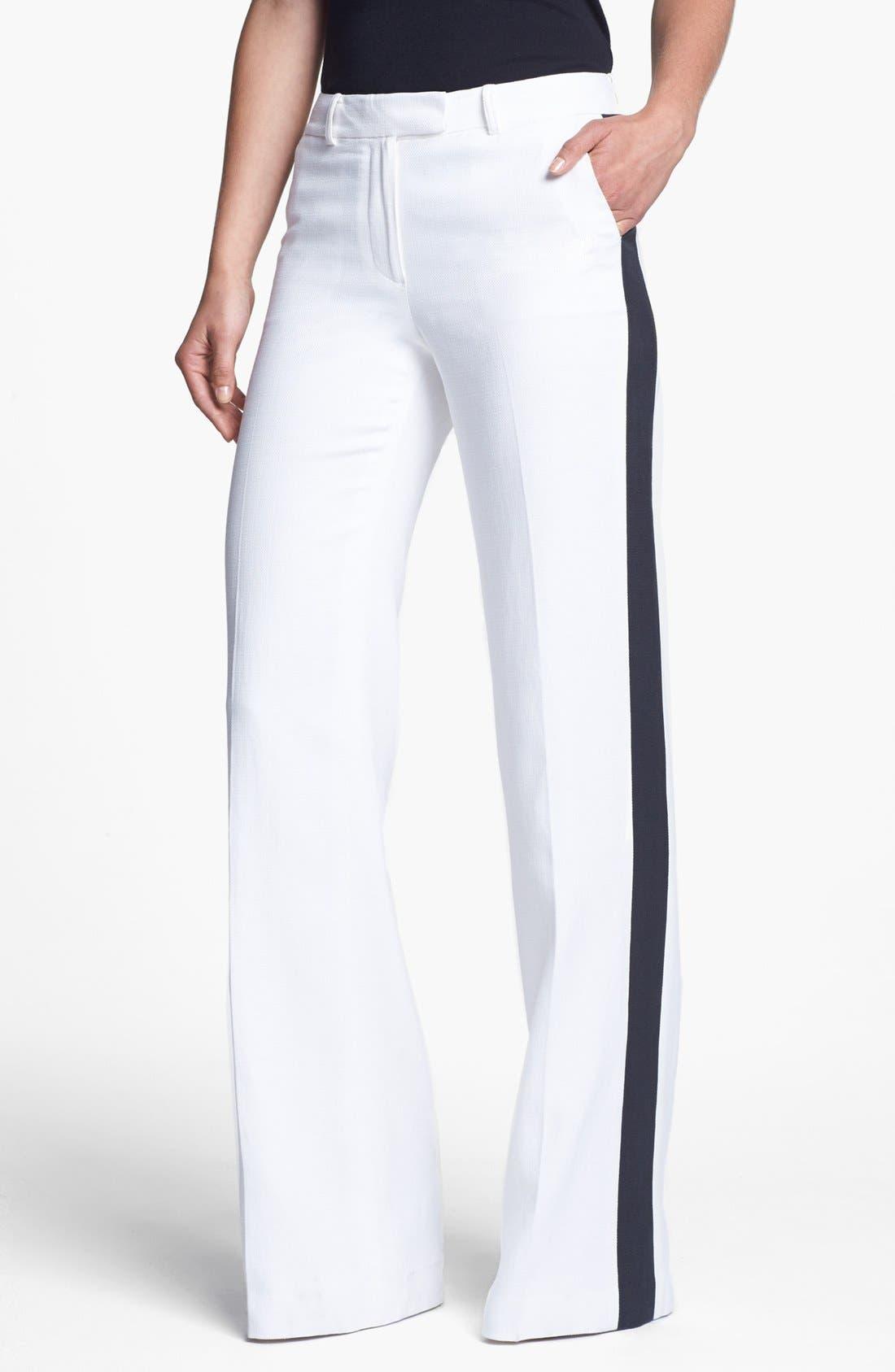 Alternate Image 1 Selected - Rachel Zoe 'Jett' Tuxedo Stripe Wide Leg Pants