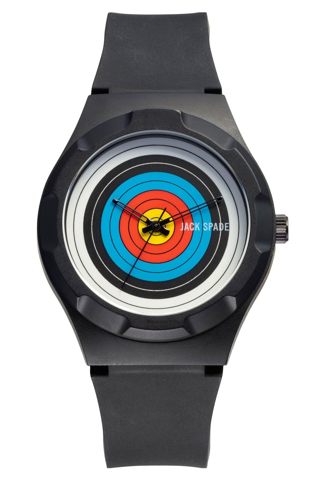 Main Image - Jack Spade 'Graphic - Archery' Round Watch, 38mm