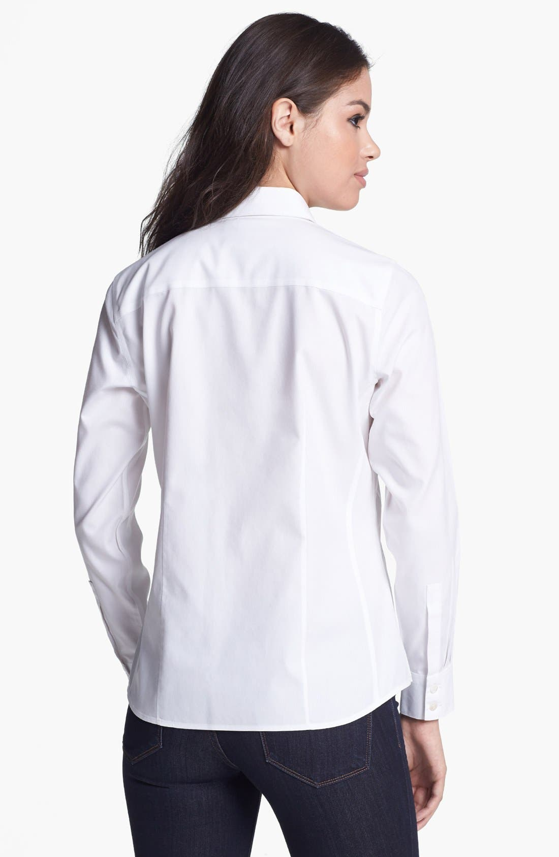 Alternate Image 2  - Foxcroft Long Sleeve Shirt (Petite)