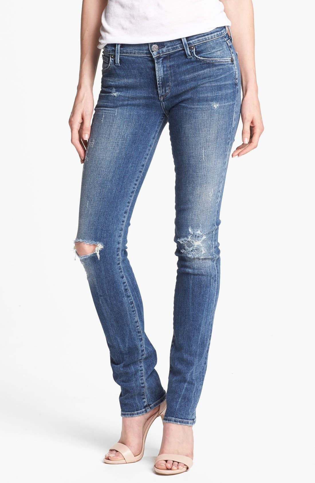 Alternate Image 1  - Citizens of Humanity 'Ava' Distressed Straight Leg Jeans (Indie)