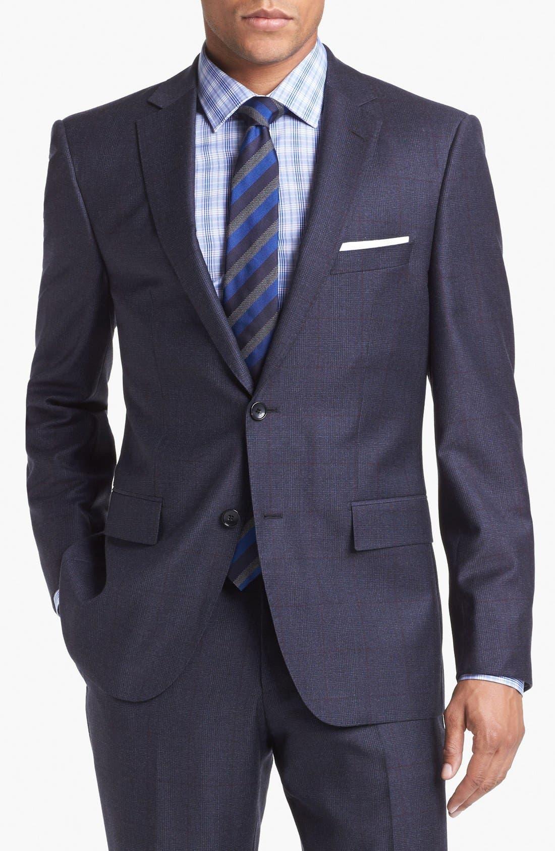 Alternate Image 4  - BOSS HUGO BOSS 'Howard/Court' Trim Fit Plaid Suit