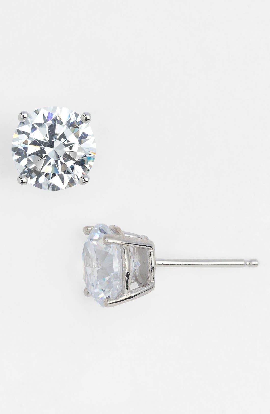 Main Image - Nordstrom 4ct tw Cubic Zirconia Stud Earrings (Special Purchase)