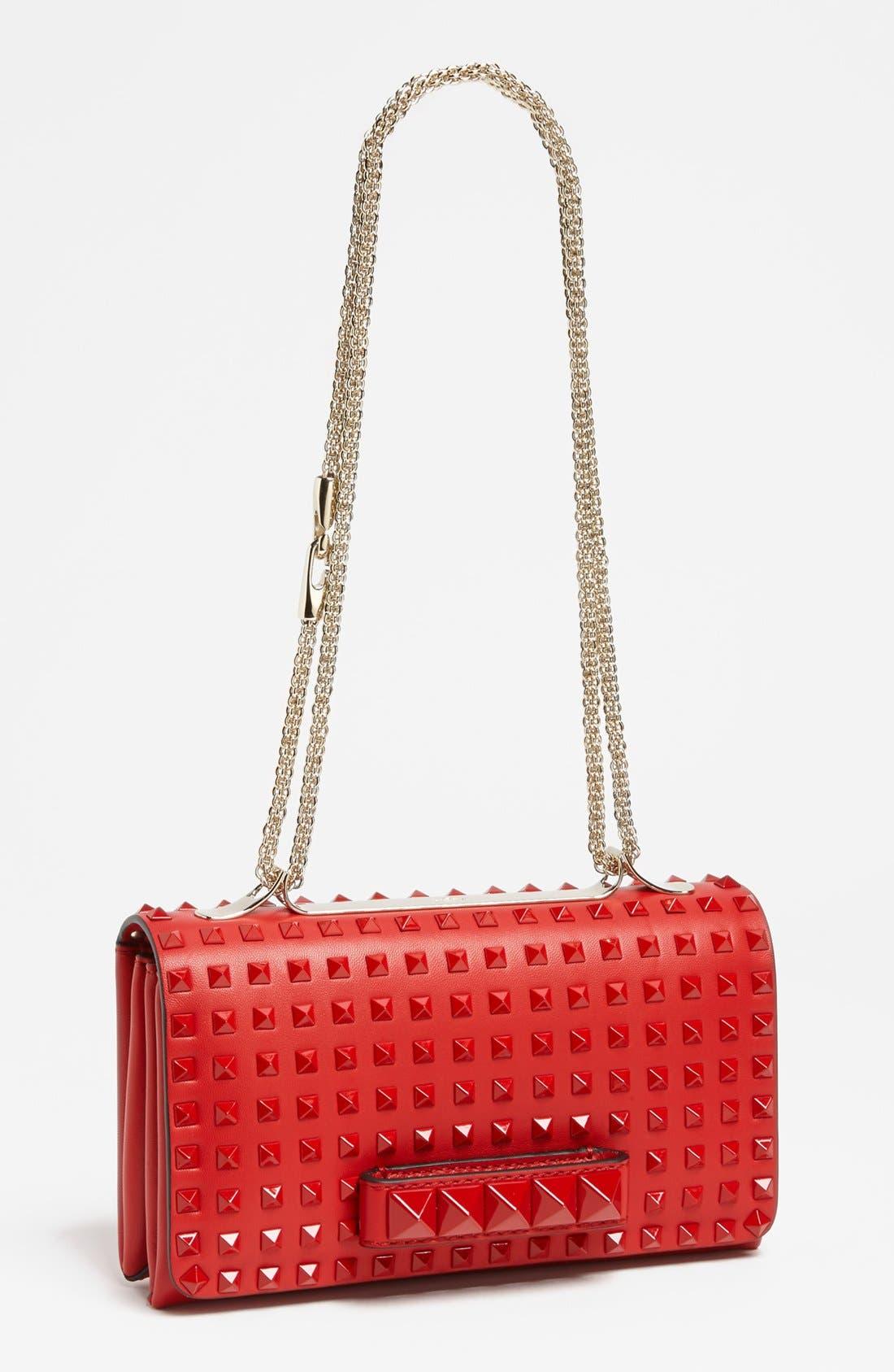 Main Image - Valentino 'Rockstud - Rouge Va Va Voom' Leather Shoulder Bag