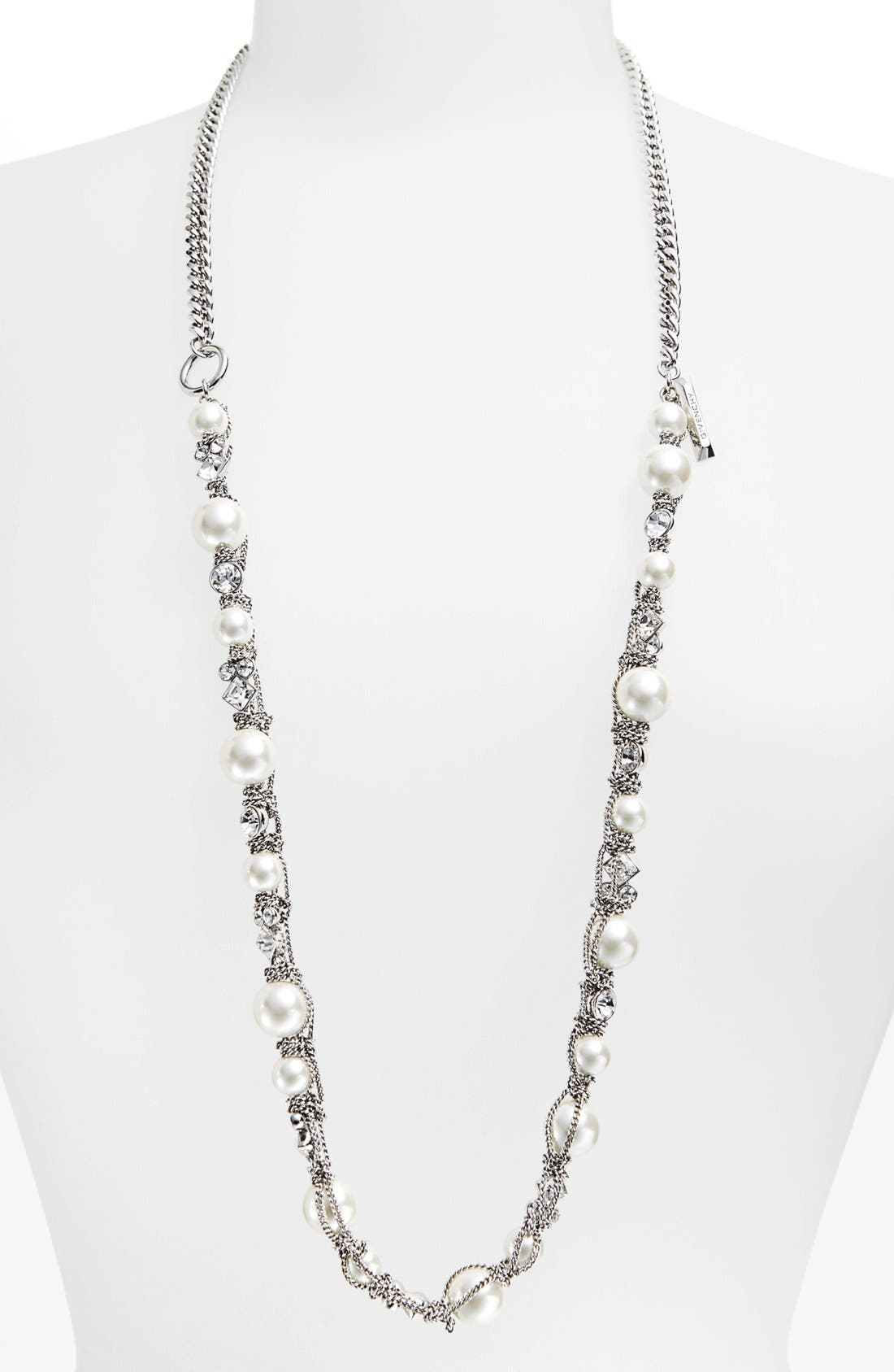 Main Image - Givenchy Faux Pearl & Chain Necklace